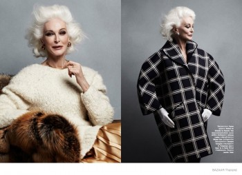 83 Year-Old Model Carmen Dell'Orefice Stuns for BAZAAR Thailand Shoot