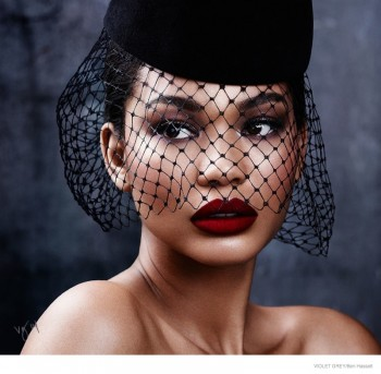Chanel Iman Stuns in Retro Beauty Looks for Violet Grey Feature