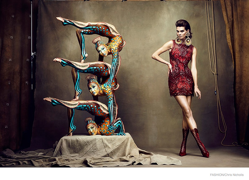 Alexandra Tomlinson is Circus Chic for Fashion Shoot by Chris Nicholls