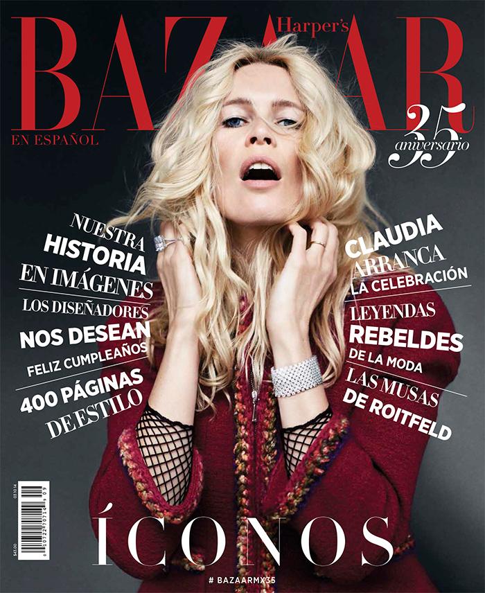 claudia bazaar latin america cover Naomi Campbell Stuns in Jewel Tones for Bazaar Latin America Cover Shoot