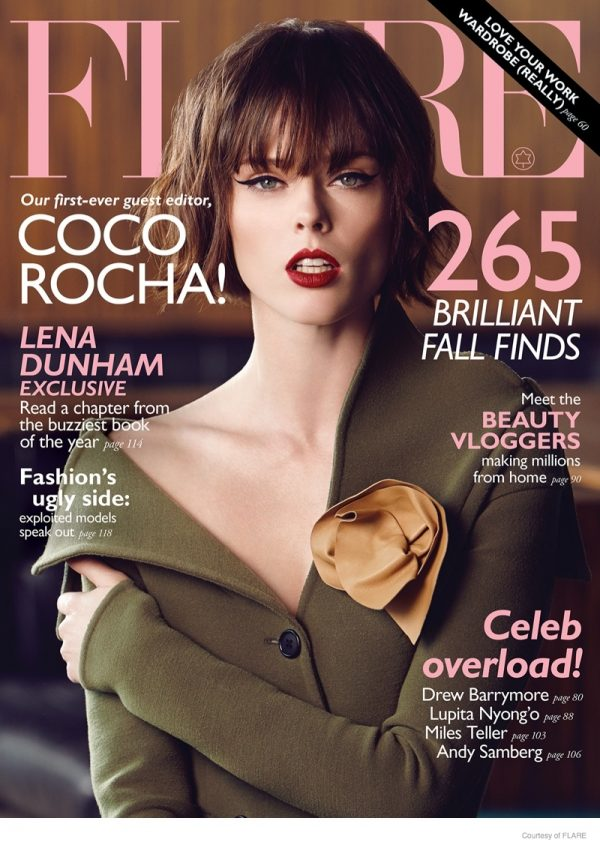 Coco Rocha Stars in Flare, Says Why She Wont Pose Nude