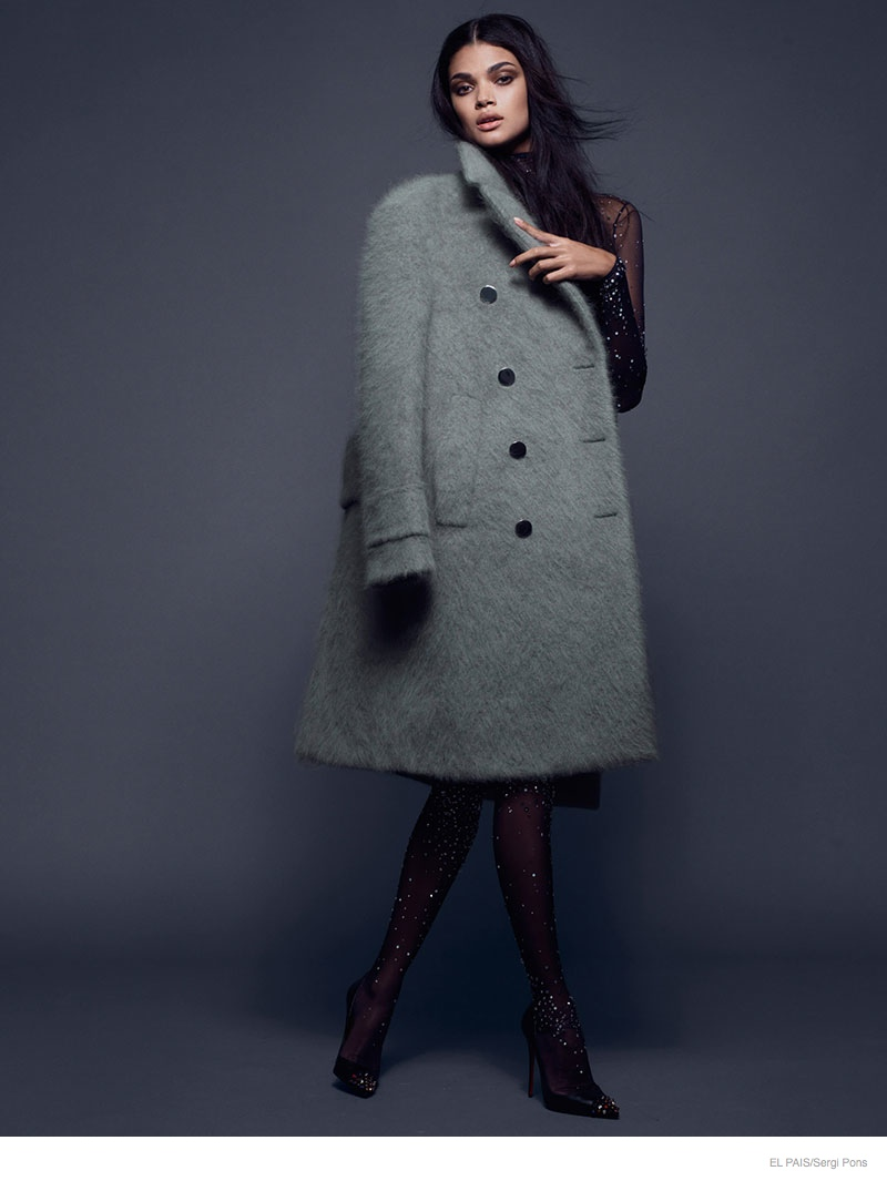 Daniela Braga Gets Glam in Coats for El Pais by Sergi Pons