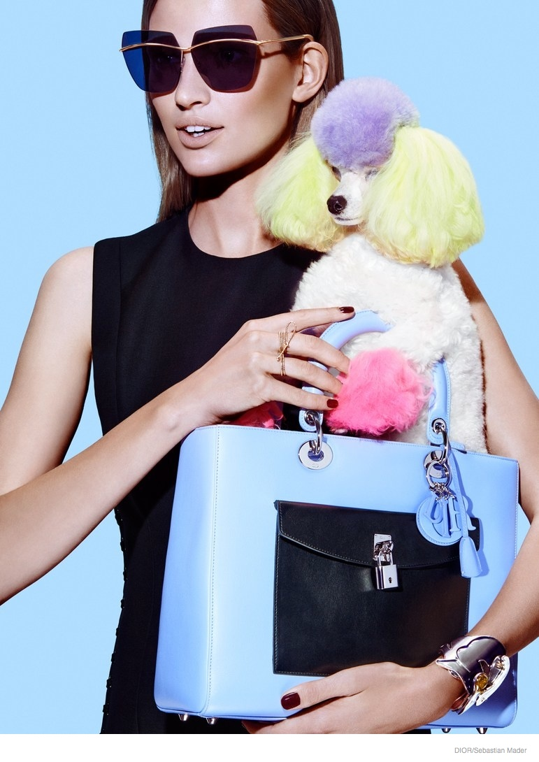 Bette Franke Models Fall Bags for Dior Magazine Shoot