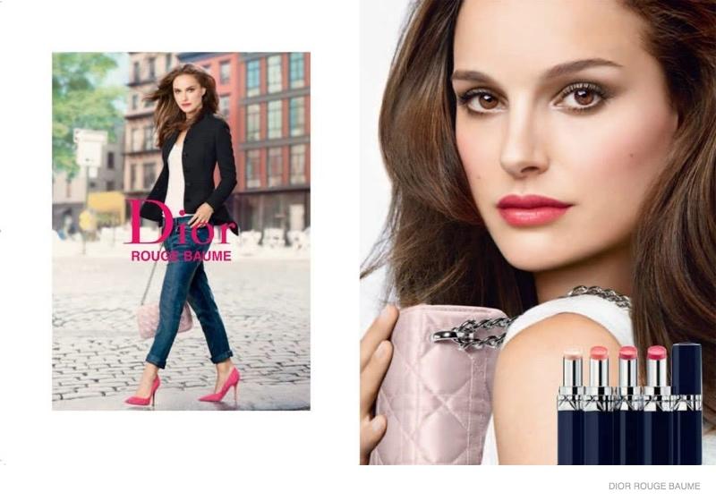 Natalie Portman for Dior Rouge Baume Ad