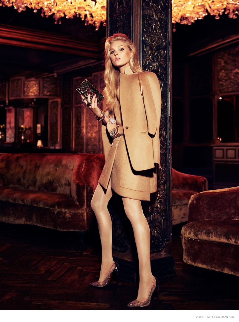 elsa hosk neutral fashion01 Elsa Hosk is Glam in Neutrals for Vogue Mexico by Jason Kim