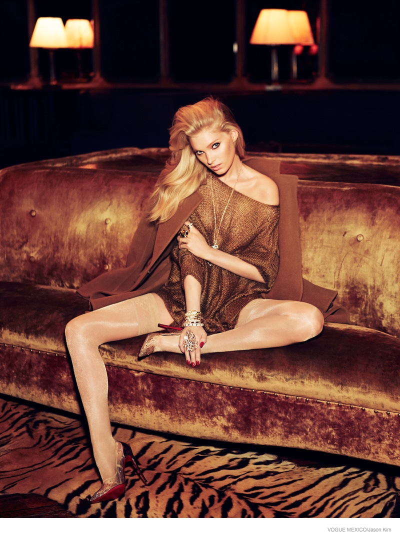 elsa hosk neutral fashion02 Elsa Hosk is Glam in Neutrals for Vogue Mexico by Jason Kim