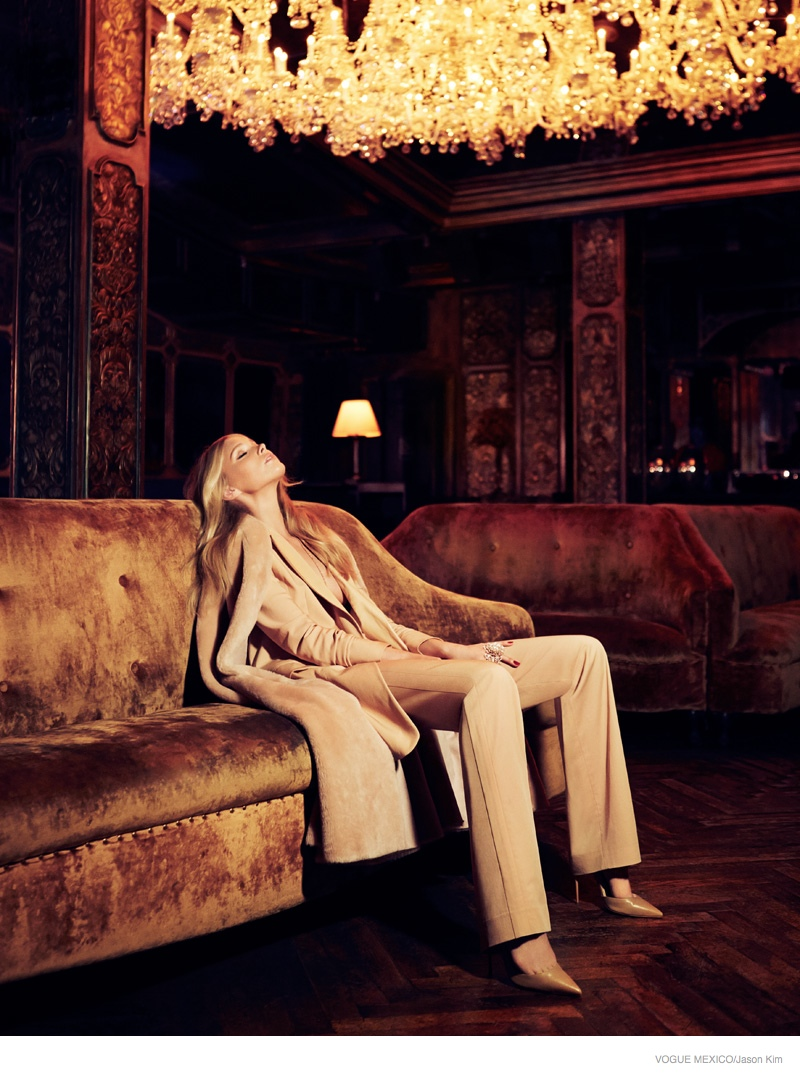 elsa hosk neutral fashion03 Elsa Hosk is Glam in Neutrals for Vogue Mexico by Jason Kim