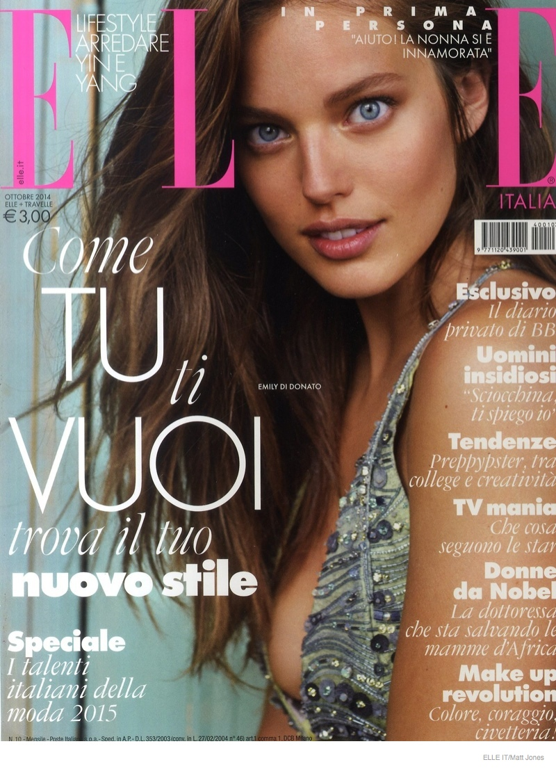 Emily didonato models luxe loungewear for cover story of for Elle italia