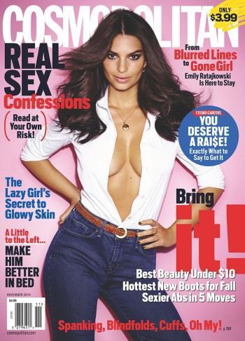 Emily Ratajkowski is Smokin' Hot on Cosmopolitan November 2014 Cover