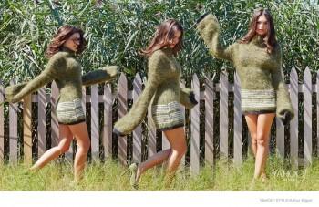 """Emily Ratajkowski Poses for Yahoo! Style, Talks """"Gone Girl"""" Role"""