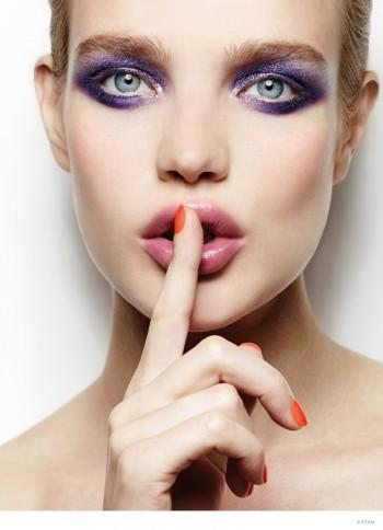 Natalia Vodianova Stuns for Etam Makeup Ad Campaign