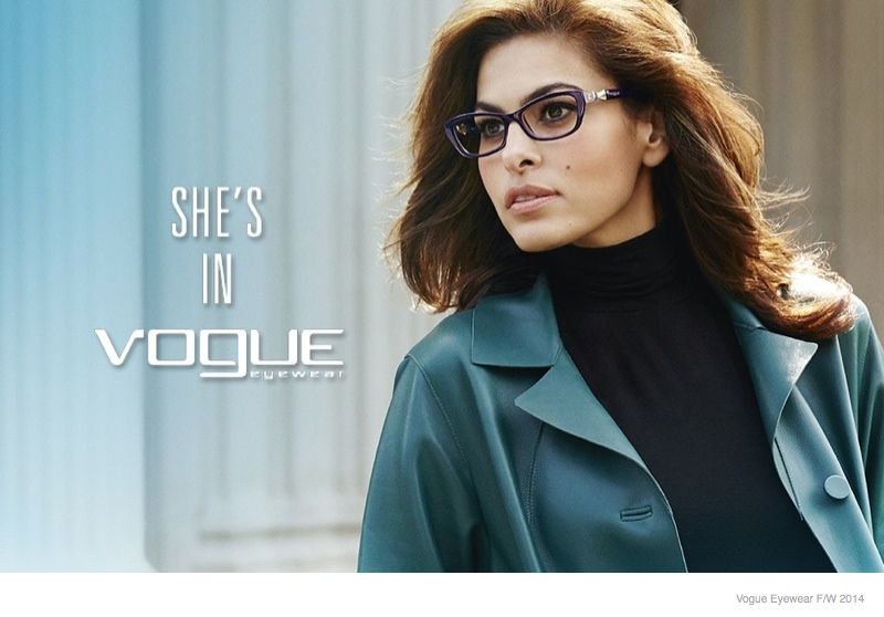 Eva Mendes For Vogue Eyewear 2014 Fall Ad Campaign