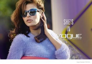 Eva Mendes Stars in Vogue Eyewear's Fall/Winter 2014 Ads