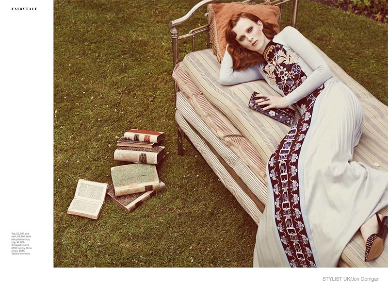 Karen Elson Enchants in Fairytale Fashion for Stylist Cover Shoot