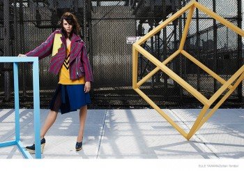 Egle Tvirbutaite Sports Fall Coats for Elle Taiwan by Zoltan Tombor