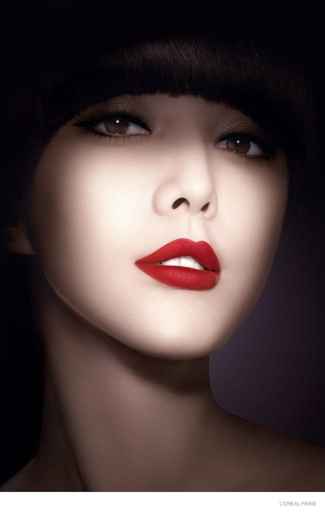 Fan Bingbing for L'Oreal Paris Color Riche Lipstick Ad Campaign
