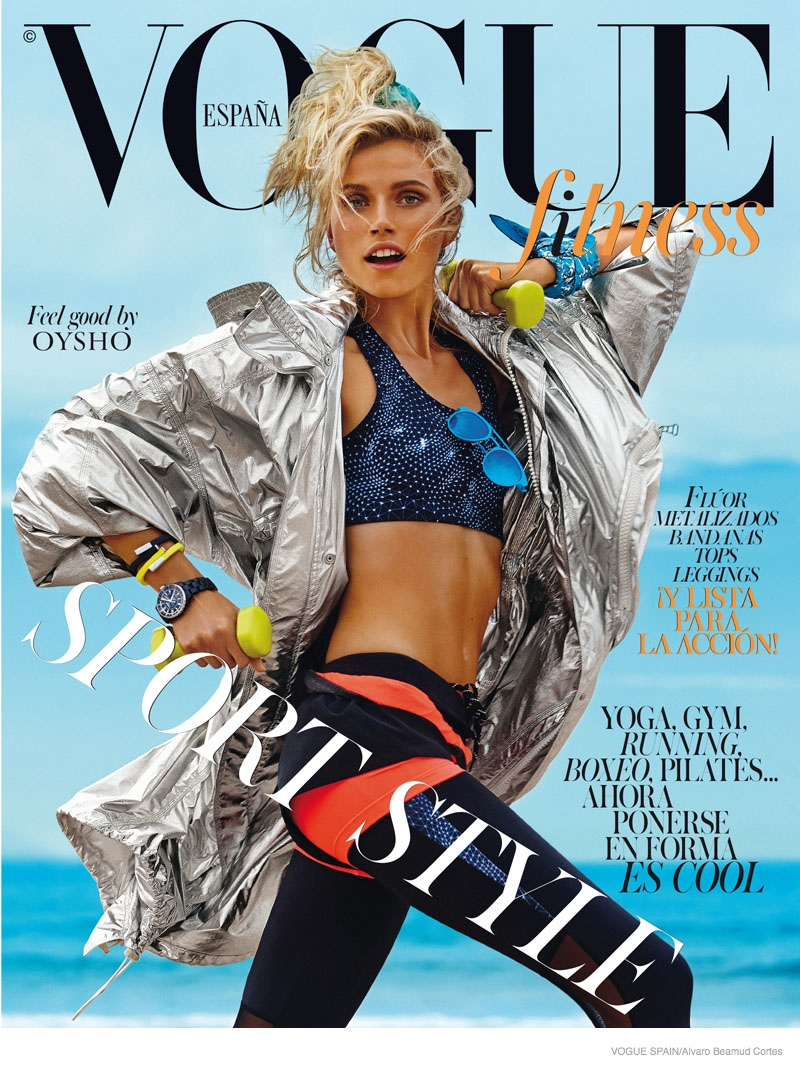 fitness fashion cato van ee01 Cato Van Ee Gets Fit at the Beach for Alvaro Beamud Cortes Shoot in Vogue Spain