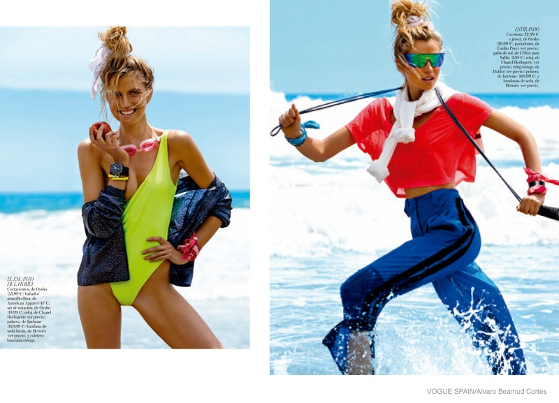 fitness fashion cato van ee04 Cato Van Ee Gets Fit at the Beach for Alvaro Beamud Cortes Shoot in Vogue Spain