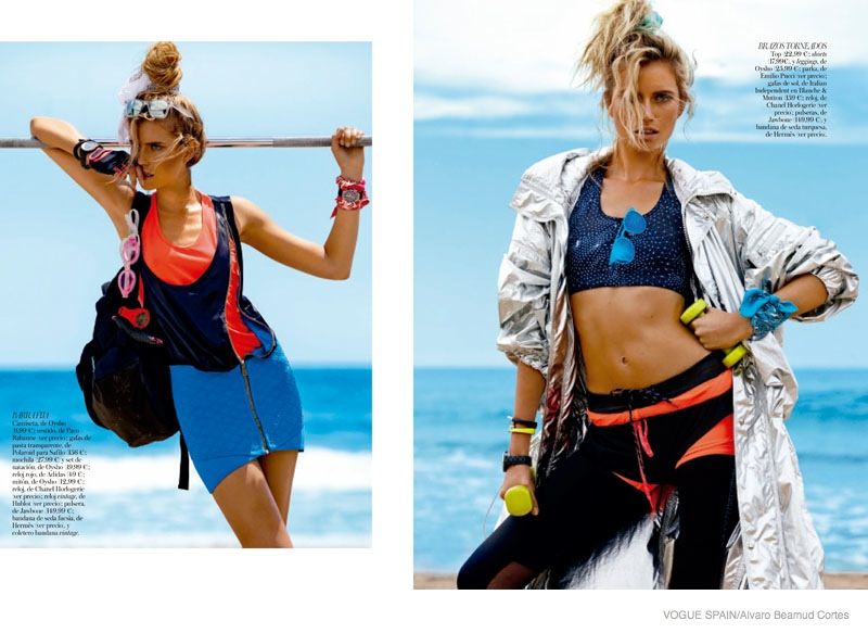 fitness fashion cato van ee07 Cato Van Ee Gets Fit at the Beach for Alvaro Beamud Cortes Shoot in Vogue Spain