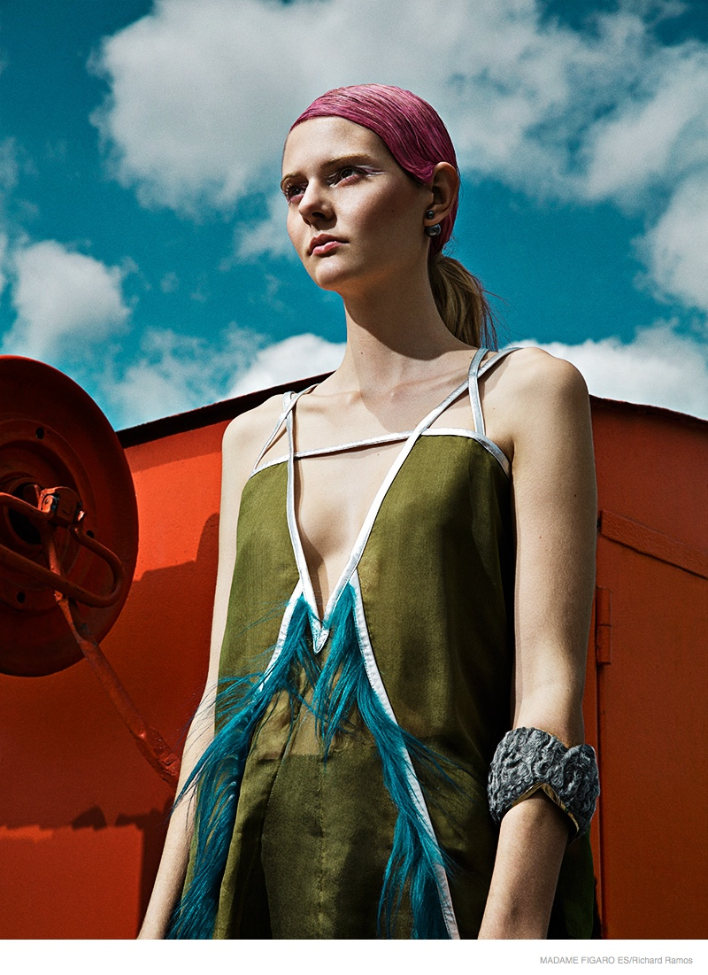 futuristic fashion richard ramos05 Abbie Weir Wears Futuristic Style for Madame Figaro Spain by Richard Ramos
