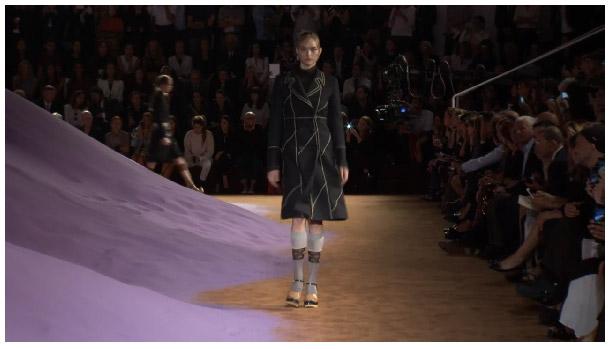 Screencap of Prada's livestream with Gemma Ward.