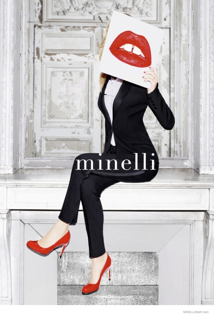 georgia may jagger minelli france 2014 fall ad campaign01 Georgia May Jagger is All Lips for Minelli Fall 2014 Ads
