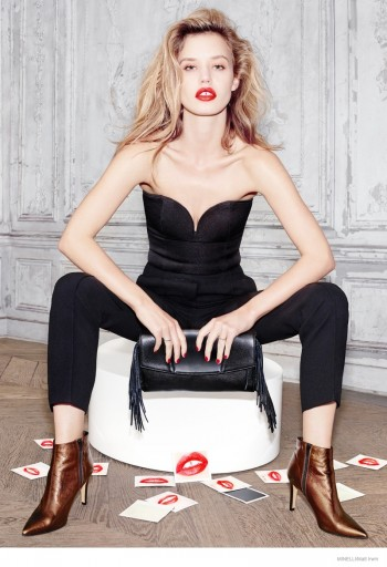 Georgia May Jagger is All Lips for Minelli Fall 2014 Ads