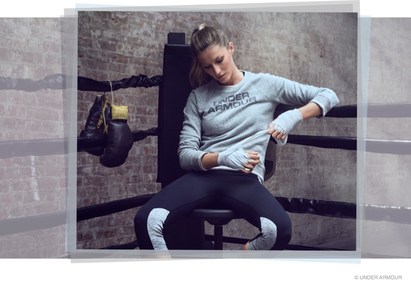 gisele bundchen under armour ad campaign 2014 photos02 Gisele Bundchen Beats Down the Haters in Under Armour Video