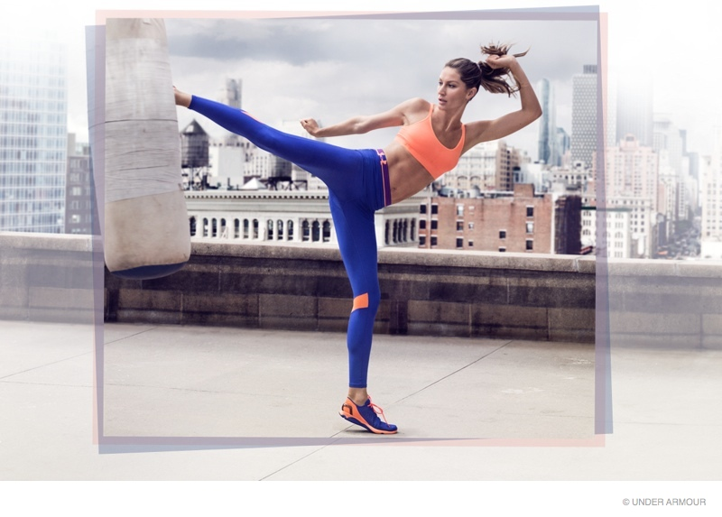 gisele bundchen under armour ad campaign 2014 photos03 Gisele Bundchen Beats Down the Haters in Under Armour Video