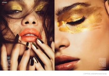 Golden Beauty: Letitia Herord by Fernando Gomez for L'Officiel Ukraine