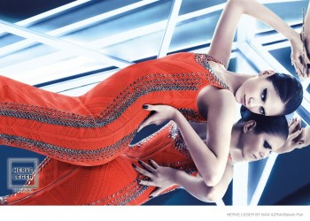 Maria Flavia Ferrari Lights Up Herve Leger by Max Azria's Futuristic Fall 2014 Campaign