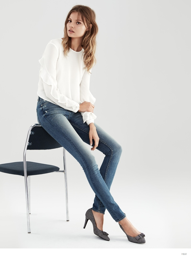 Magdalena Frackowiak Models H&M Fall Denim Looks