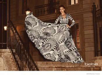 Irina Shayk Gets Glam in Bebe's Fall 2014 Ad Campaign