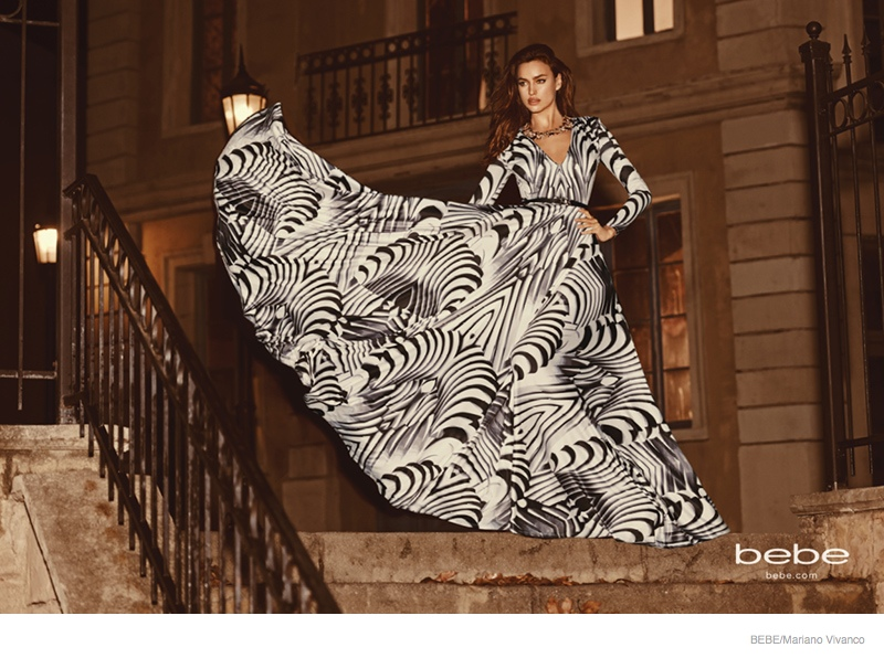Irina Shayk Gets Glam in Bebe's Fall 2014 Ad Campaign