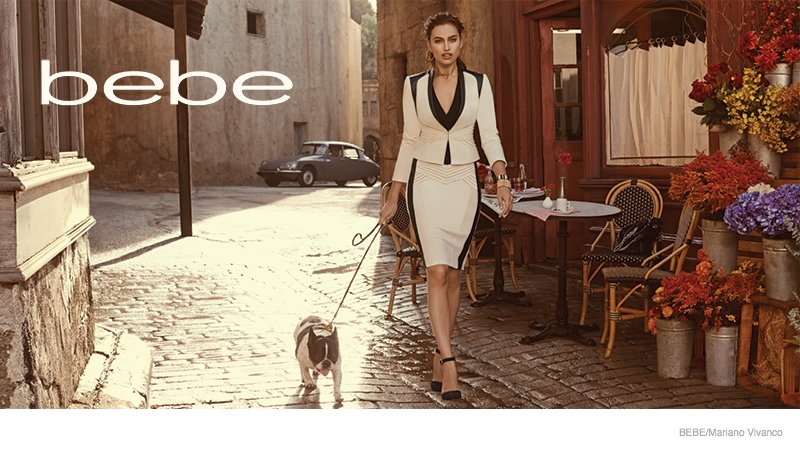 Irina Shayk stars in Bebe's fall-winter 2014 campaign