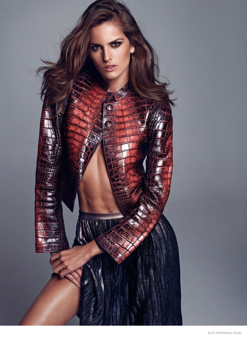 Izabel Goulart Poses for Xavi Gordo in Elle Spain Cover Shoot