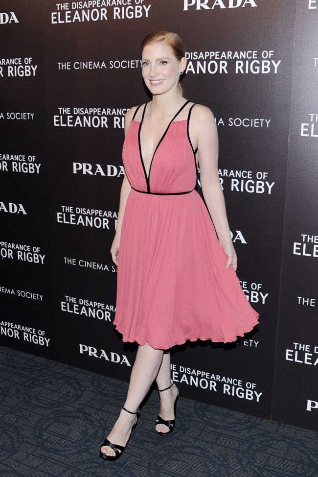 """Jessica Chastain & Jess Weixler Wear Prada at """"The Disappearance of Eleanor Rigby"""" New York Premiere"""