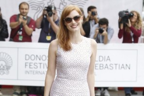 Jessica Chastain Wears White Michael Kors Dress at San Sebastian International Film Festival