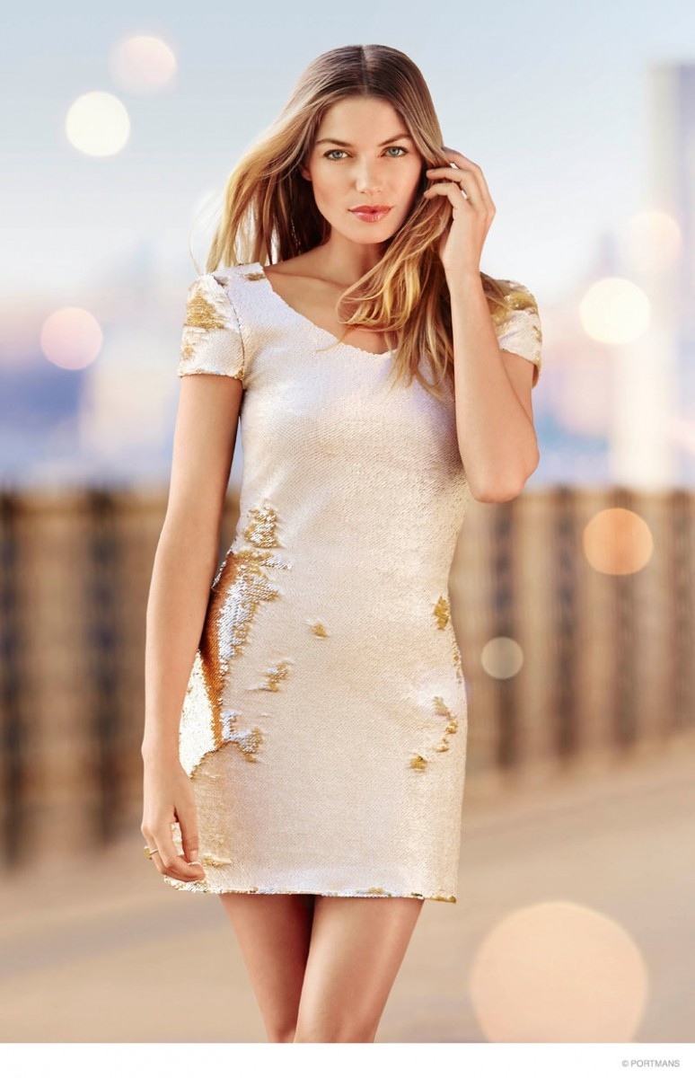 Here Comes the Sun: Jessica Hart Stars in Portmans' Summer 2015 Campaign