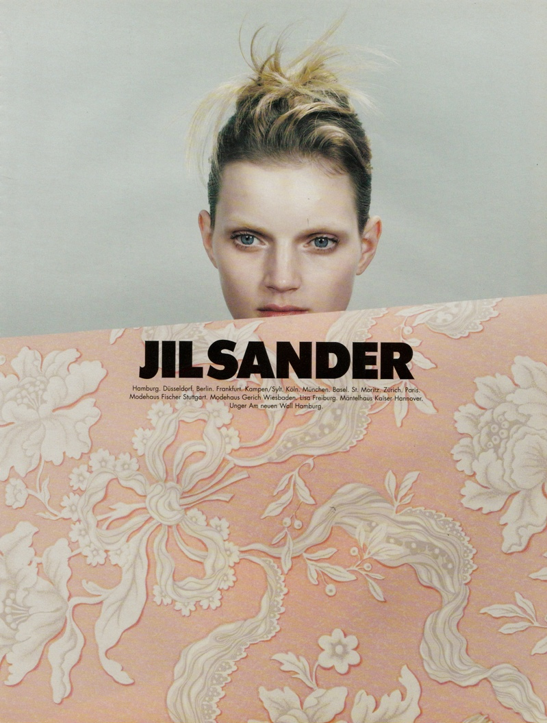 TBT | Guinevere van Seenus is Under Cover for Jil Sander's Spring 1996 Ads