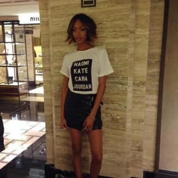 Jourdan Dunn wears Supermodel T-shirt at recent event