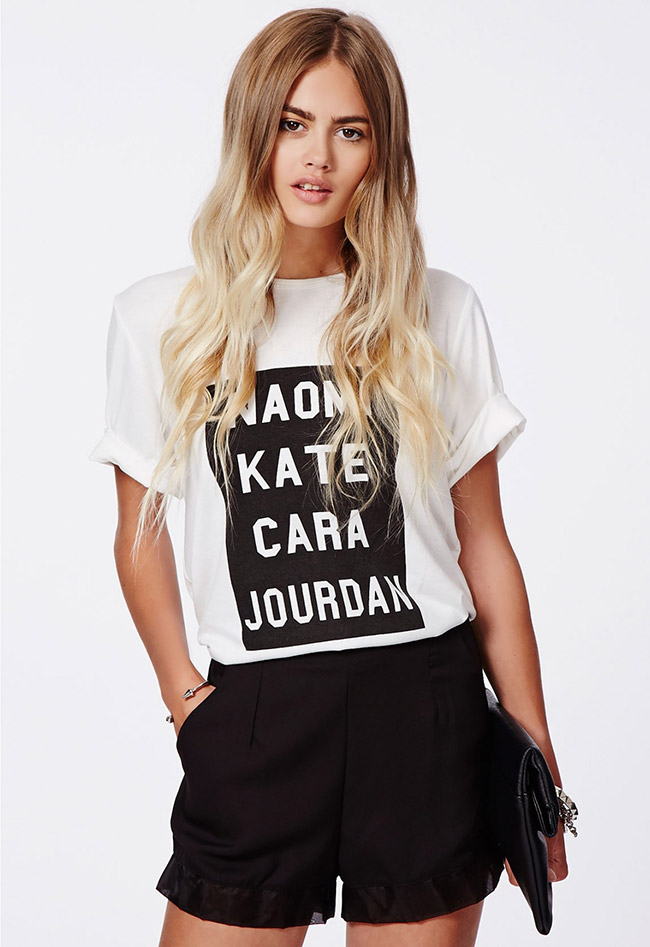 GET THE LOOK: Jourdan Supermodel Boyfriend T Shirt available at Missguided for $18.98