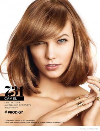 Image: Karlie Kloss in L'Oreal Paris Prodigy ad campaign for 2014 before her deal became official.