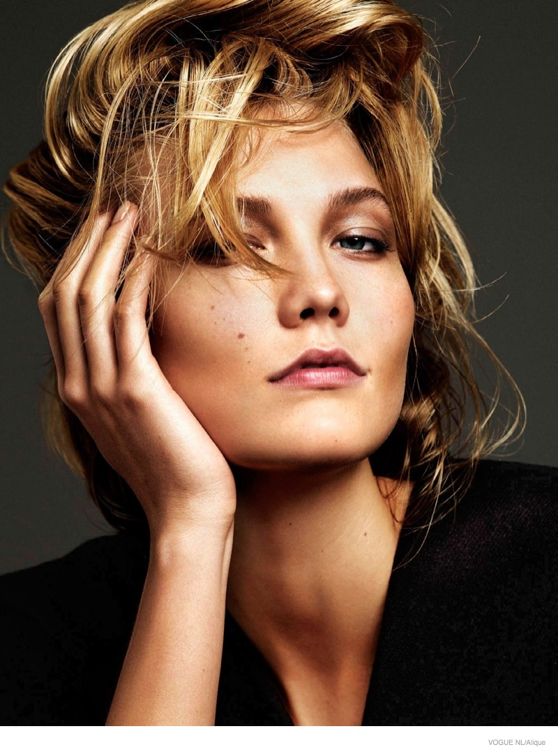 Karlie Kloss Models Messy Hairstyles For Cover Shoot Of