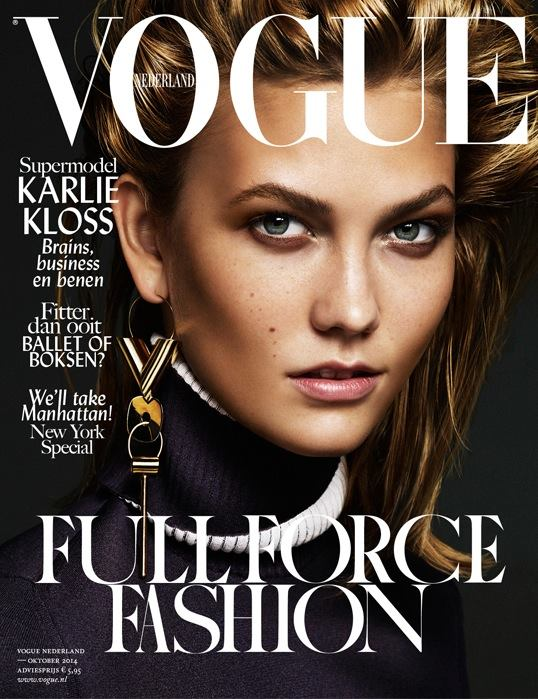 Karlie Kloss Rocks One Earring On Vogue Netherlands
