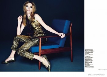 Kate Bosworth Shines in 60s Style for Bazaar Singapore Shoot by Gan