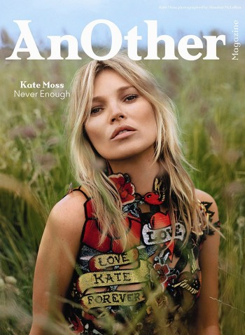 Kate Moss shot and styled by Alasdair McLellan and Alister Mackie for AnOther Magazine Autumn / Winter, on sale Thursday 4th September.