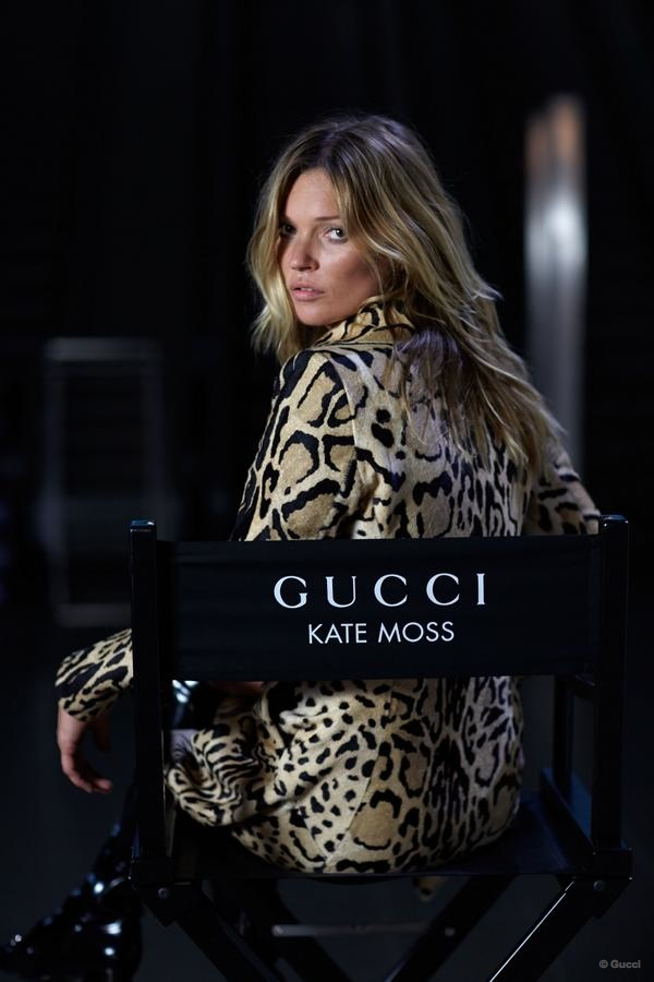 Kate Moss is on the Go for Gucci's Jackie Handbag Film