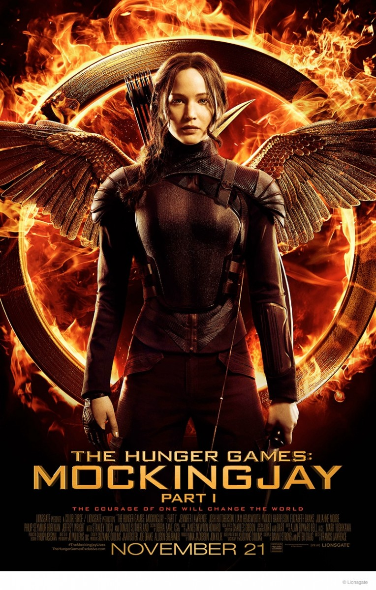 "Jennifer Lawrence ""Hunger Games: Mockingjay"" Poster Art"