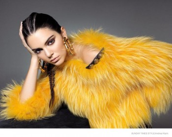 Kendall Jenner Wows in Balmain Fall Looks for Sunday Times Style Shoot